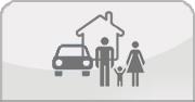 Auto-Haus-Familie Icon